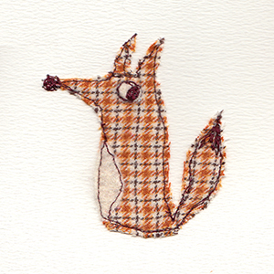 tweedy fox handmade card