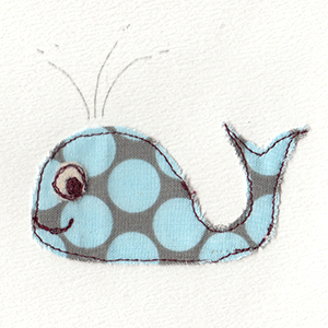blue spotty whale handmade card