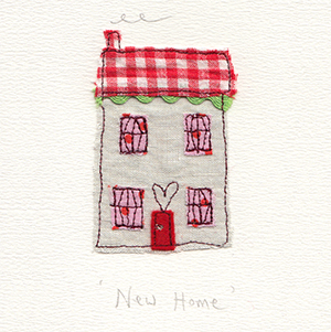 new home fabric house handmade card