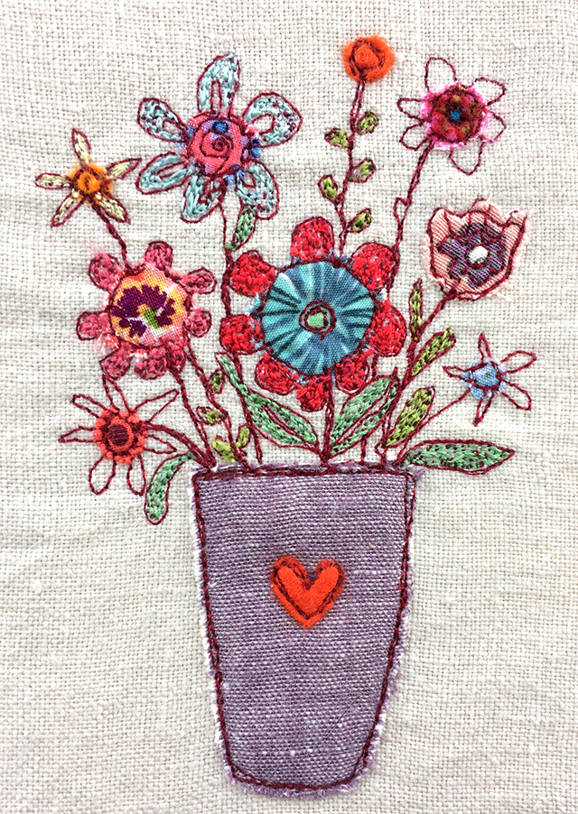 embroidered new year 2018 flowers