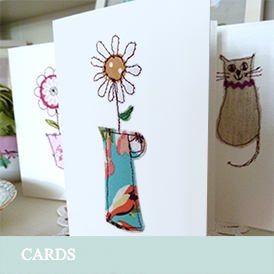 a group of Dawn Ireland handmade cards